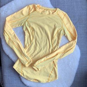 Lululemon Run: Reflect Long Sleeve in yellow